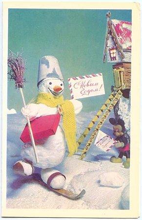 雪だるまとミッキーのメリークリスマス