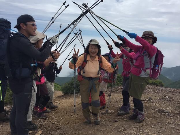 斜里岳で100名山達成のお客様です