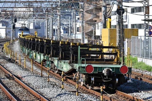 レール輸送の貨物列車