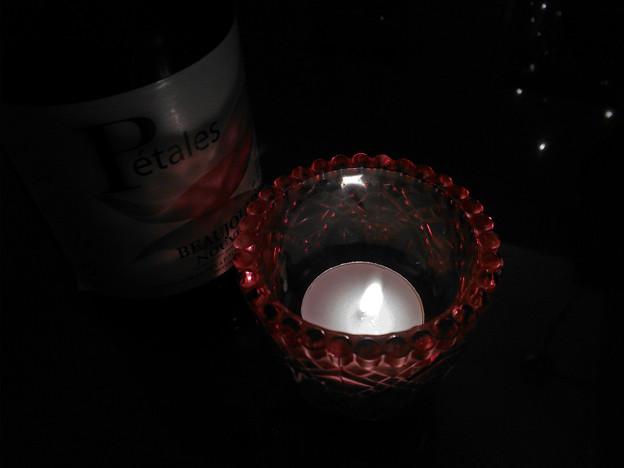 写真: キャンドルの灯20141206
