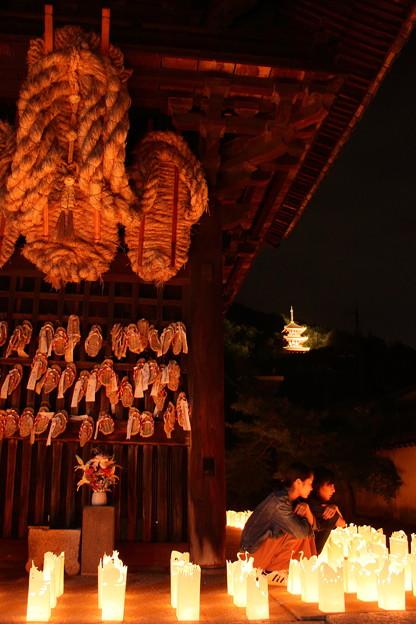 尾道灯りまつり2017 西国寺山門