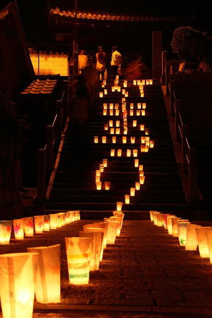 尾道灯りまつり2017 西郷寺階段