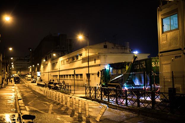 パリ北駅裏道