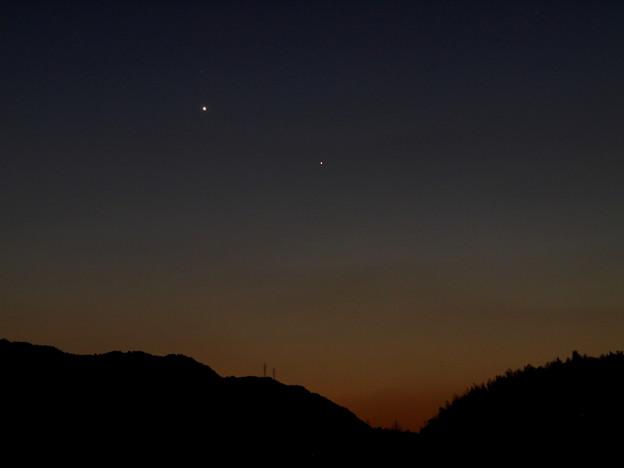 水星と金星(2015.01.17)