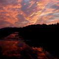 Photos: 夕焼けの川面