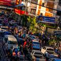 写真: 大渋滞です