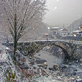 雪の笠松橋