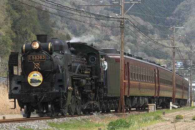 5001レ C58 363+12系 4両