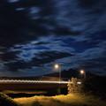 Photos: 波打つ雲と夜の斜里岳