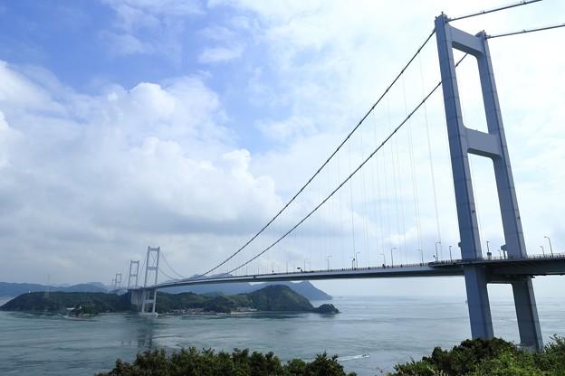 写真: しまなみ(来島海峡大橋今治より)