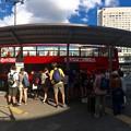 Photos: regular sightseeing double-decker tour bus Maple Sky めいぷるスカイ Hiroshima station shinkansen entrance