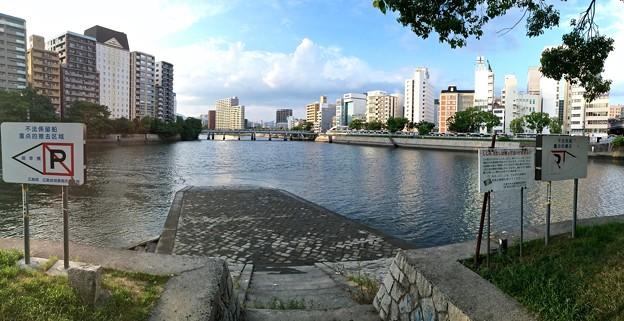 台屋の出鼻 広島市南区京橋町 京橋川 猿猴川分岐 2016年8月24日