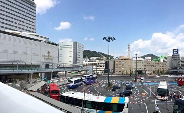 広島駅 新幹線口 バスのりば 広島市南区松原町 2016年9月9日