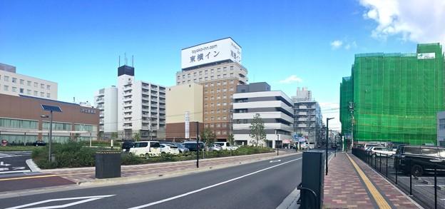 JR広島病院 東横イン 広島駅新幹線口 広島市東区二葉の里3丁目 - 光町2丁目 2016年9月23日