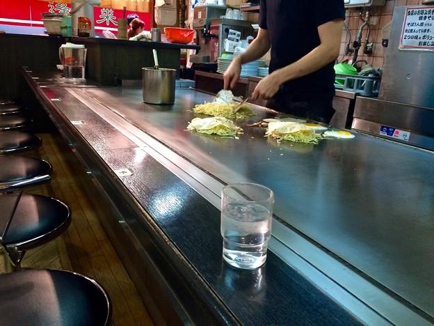 お好み焼 あまんじゃく okonomiyaki 広島市中区紙屋町2丁目 サンモール 地下1階 2016年5月15日