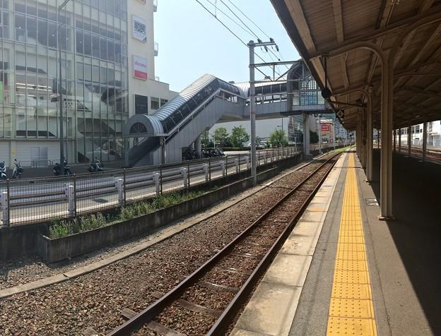 呉駅 3番線ホーム 呉線下り 川原石方向 2016年7月27日