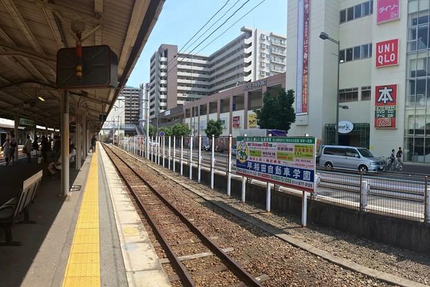 呉駅 3番線ホーム 呉線上り 安芸阿賀方向 2016年7月27日