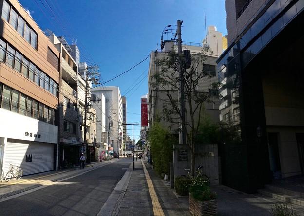 広島市中区幟町と鉄砲町の町境界 2016年8月23日