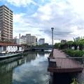 堺川 かき舟 小春橋 水の広場 呉市中央2丁目 五月橋から 2016年8月27日