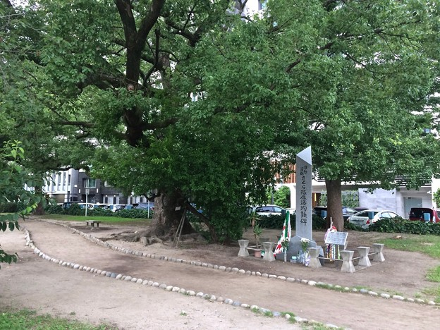 移動演劇 さくら隊殉難碑 広島市中区小町 平和大通り 2017年8月6日
