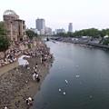 ピースメッセージとうろう流し 広島平和記念公園 元安川 2016年8月6日