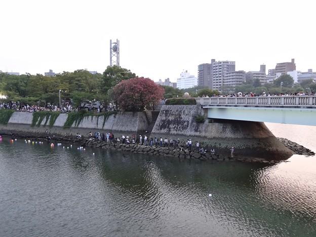 慈仙寺の鼻 広島市中区中島町 平和記念公園 2016年8月6日 ピースメッセージとうろう流し