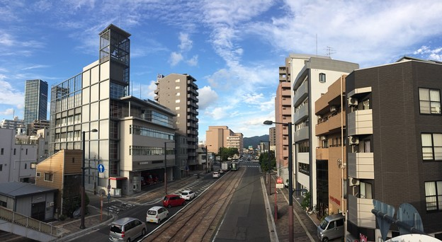 的場陸橋から広島市南消防署 広島市南区的場町2丁目 2017年9月1日