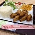 食堂おんどやフジグラン広島店 とり皮餃子定食 広島市中区宝町 フジグラン広島 3F フードコート
