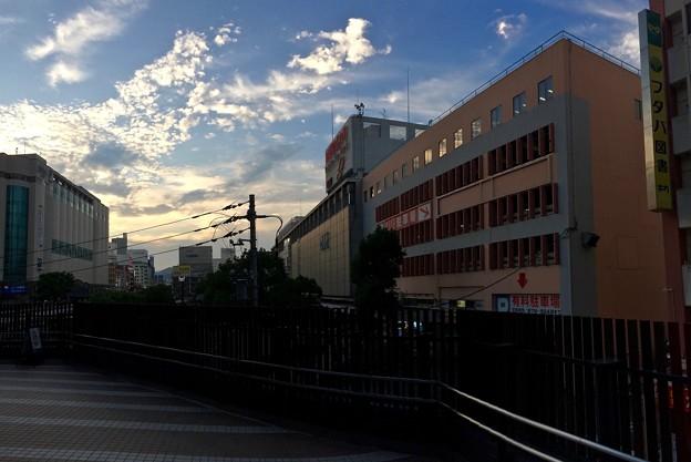 EKICITY エキシティ2階デッキウォークから広島駅方向 2017年9月9日