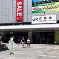 広島駅 南口広場 広島市南区松原町 スマホアプリ 舞台めぐり AR撮影 2016年8月12日