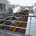 Photos: 広島駅 跨線橋から閉鎖された跨線橋 ASSE改札前の窓 2番1番ホーム 2014年11月8日