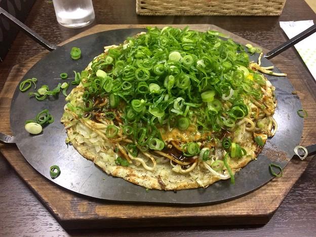 お好み焼き 鉄板焼き あり 肉玉そば ねぎ okonomiyaki 広島市南区的場町2丁目 2017年11月28日