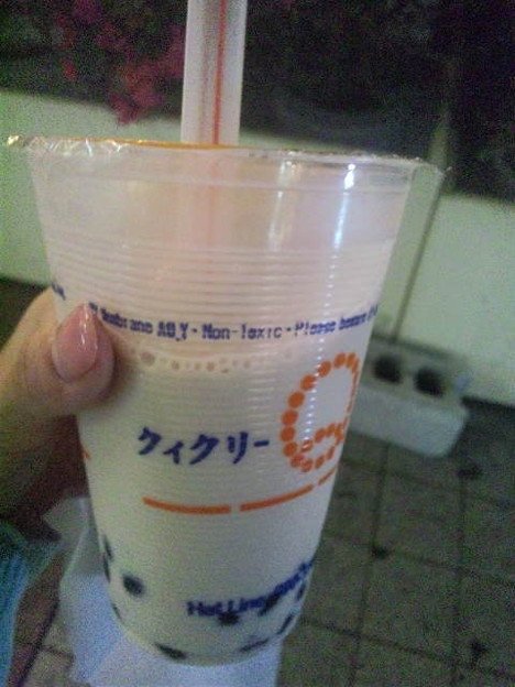 Photos: タピオカ入りミルクティー。...