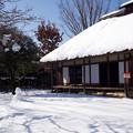 旧加藤家と雪だるま