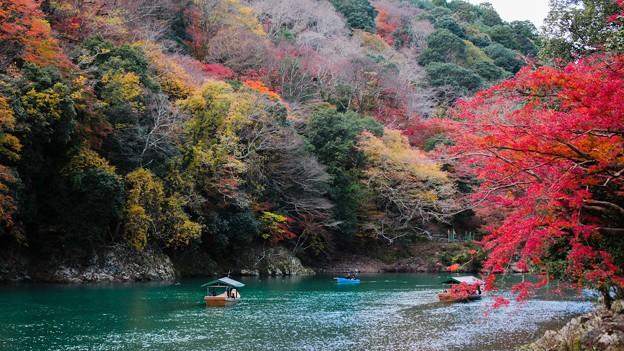 嵐山保津川の紅葉