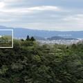 大悲閣から亀山公園を望む