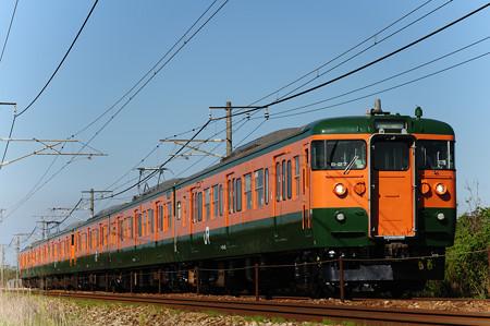 115系湘南色 6両 (新倉敷-金光)