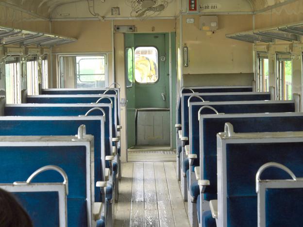 幸福駅の汽車の中