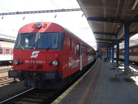 ウィーン行き列車(ブラチスラヴァ)