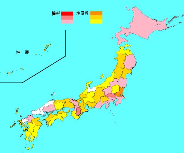 インフルエンザマップ 全国