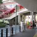 兵庫県宝塚市の阪急宝塚南口駅の白ポストと周囲。北東出口付近。(2014年)