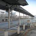 兵庫県三田市の神鉄ウッディタウン中央駅前の白ポストと周囲。(2014年)