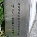 三重県名張市の近鉄赤目口駅前のいわゆる白ポスト側面の設置者名義。(2014年)
