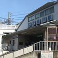阪神武庫川駅西改札。白ポストがある。(2015年)