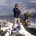 雪景色の山と俺2