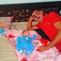 写真: 父と子