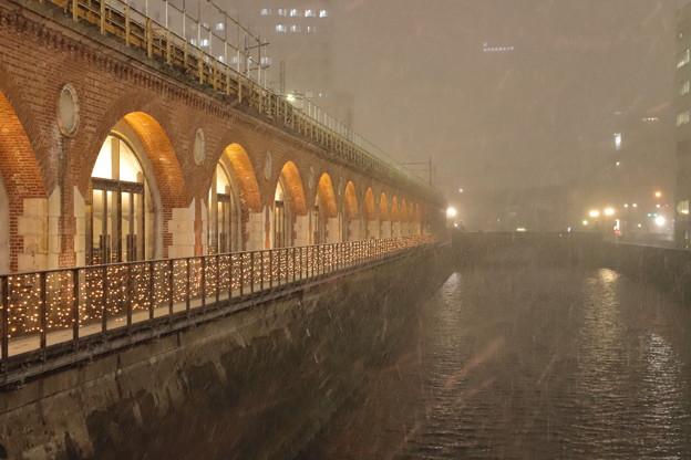 レトロ東京にも雪が。。。