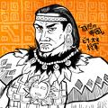 写真: FAN ART インカ漫画「残照の帝國」ではビラ・オマ将軍が推し
