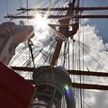 写真: 海王丸と空