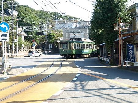 江ノ島→腰越の併用軌道区間3